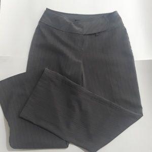 Studio Y Stretch  3/4 Striped Grey Dress Pants